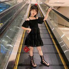 Платья для девочек, однотонные летние платья для девочек, повседневные праздничные платья для детей, однотонная Одежда для девочек 6, 8, 10, 12, ...(Китай)