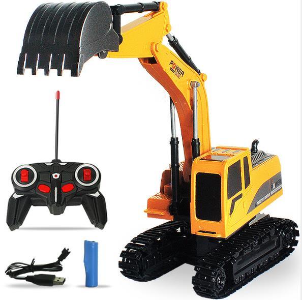 Интеллектуальный детский электроинженерный автомобиль 1:24, пластиковый строительный набор rc в окне, игрушки с дистанционным управлением, Радиоуправляемый автомобиль, экскаватор