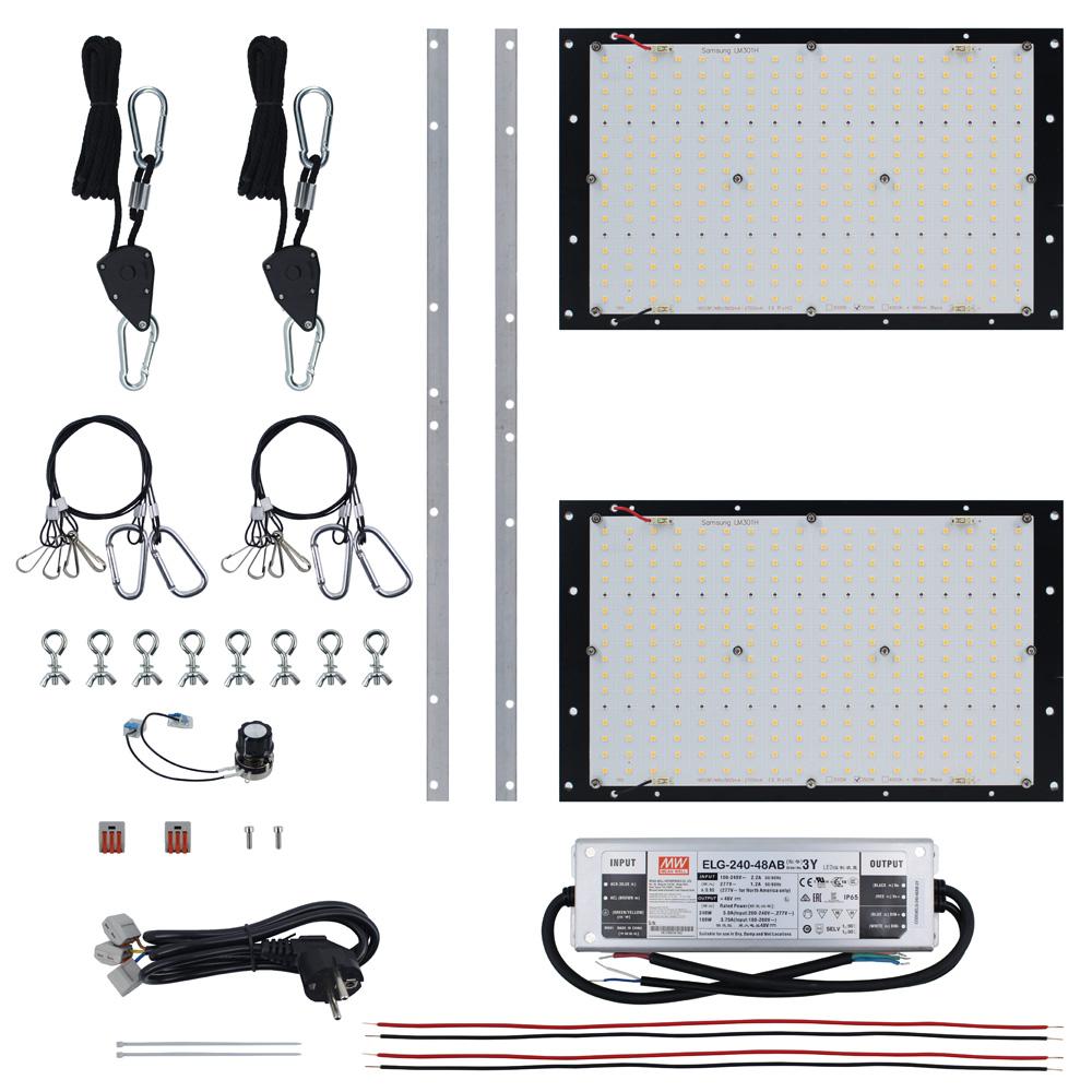 2020 Wholesale Best New Design DIY  Quantum LED Plate Dim Lm301H MW ELG driver Led Full Spectrum Pcb 240w Panel grow light