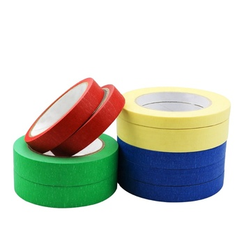High quality car tape paint masking tape automotive blue painters colored high temperature crepe paper abro tape