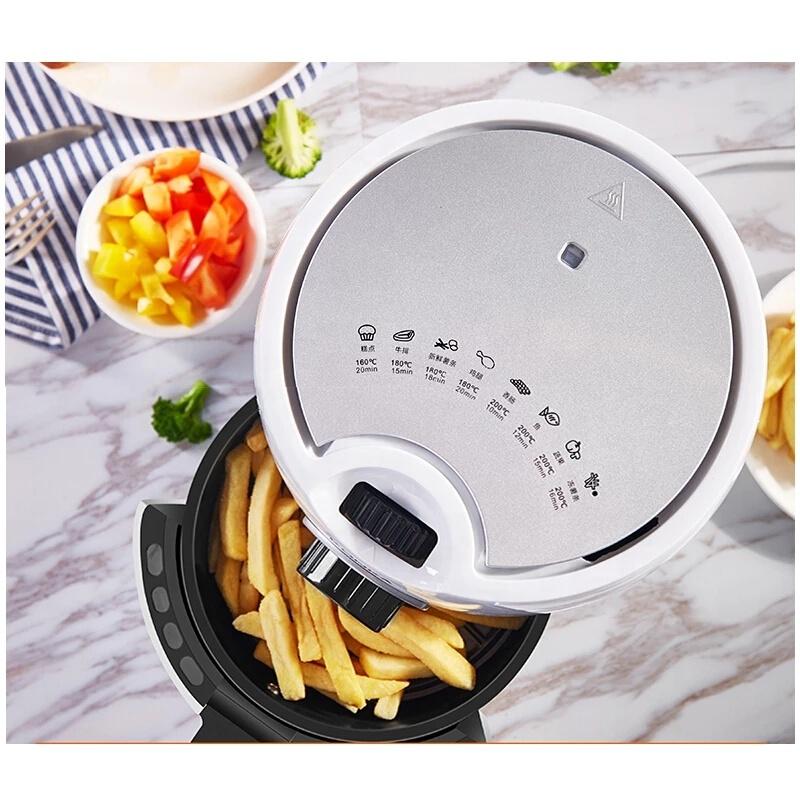 KONKA Многофункциональный аэрофритюрница для приготовления блюд без 1000W безмасляный таймер функция защиты от перегрева автоматическая рабочего 2.2L белый