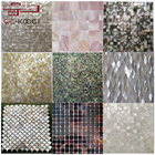 Wholesale shell mosaic variety styles seamless sea freshwater shell mother of pearl mosaic tile iridescent art mosaic