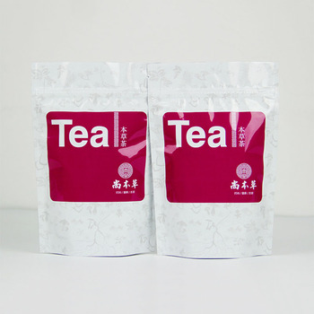 tea packaging bags zipper heat seal plastic custom aluminum foil empty tea bags