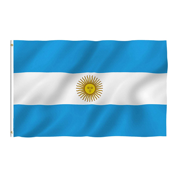 Hot sale 100D Polyester Vibrant Colors Double Stitched Argentina National Flags Official Flags Banners for Outdoor Activities
