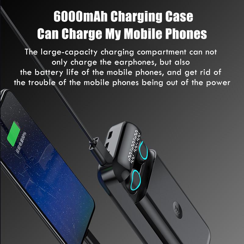 High-quality wireless headphone power bank 6000mAh - 1MRK.COM