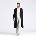 Long Ladies Long Fall/winter Tongxiang Blank New Urban Casual Style Black Long Style Ladies Hooded Silk Down Jacket