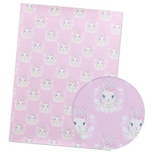 IBOWS 22*30 см 1 шт. Пасхальный искусственный синтетический кожаный лист кролик яйцо печатная ткань Сделай Сам банты для волос принадлежности ру...(Китай)