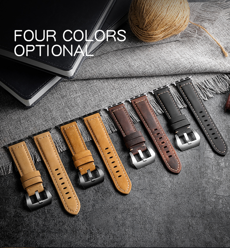 For Apple Watch Band 42mm 38mm Genuine Leather Replacement Strap iWatch Band for Apple Watch Series 6 se Sport and Edition