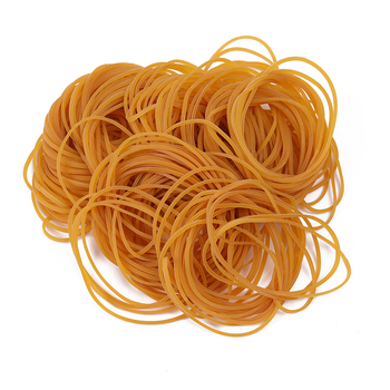 yiwu Professional production direct sales 65mm diameter transparent pure color natural rubber bands