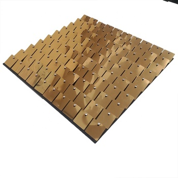 2021 hot sale 3d outdoor square sequin wall panel decoration