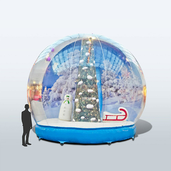 Manufacturers Christmas Giant Transparent Human Size Hotel Inflatable Snow Globe Tent For Camping