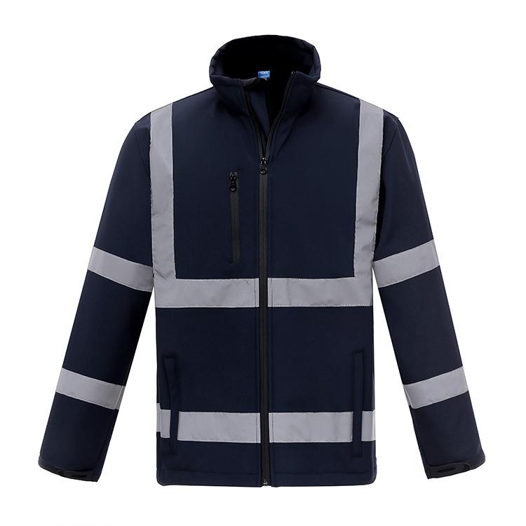 Китайская дешевая низкая цена, водонепроницаемая теплая безопасная светоотражающая флисовая куртка для мужчин
