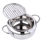 Pot Deep Fryer Stainless Steel Cookware Deep Pot Tempura Frying Nonstick Cookware