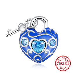 RINNTIN CB116 pure silver charm DIY for necklace bracelet 925 sterling silver cute heart charms