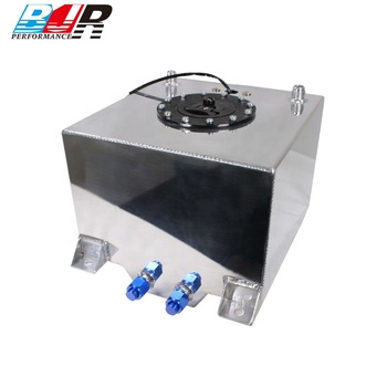 BJR Coolant Customized Universal Aluminum Polished Heavy Duty Racing Fuel Cell Gas Tank