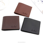 Leather Wallet For New Design Men's Short PU Leather Wallet For Men Card Holder Coin Purses Custom Wallet With Logo