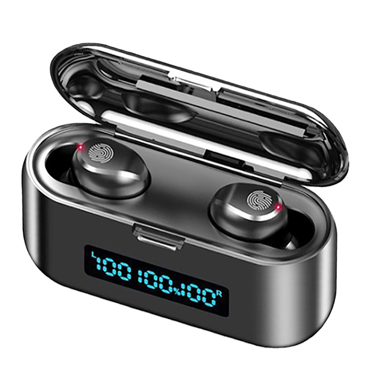 Large Battery Three Led Digital Display TWS f9 Earbuds Waterproof Auriculares Bluetooths f9 Earphone With Power Bank - idealBuds Earphone | idealBuds.net