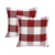 Buffalo Check Plaid Throw Pillow Covers with Pompoms Cushion Case Cotton Linen for Sofa