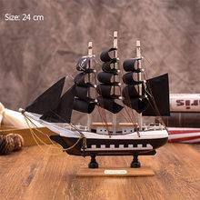 Strongwell 16 см-50 см деревянные парусные модели Средиземноморский стиль твердой древесины украшение домашнего декора аксессуары(Китай)