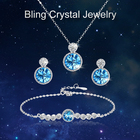 Jewellery Jewelry RINNTIN 2021 New Arrivals Fashion Custom Jewellery Gift For Women 925 Sterling Silver Shiny Crystal Jewelry