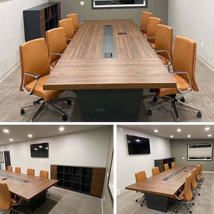 Современный офисный стол для конференций, стол и стулья на 10 мест