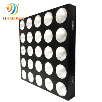 Christmas Party disco LED matrix stage light 5x5 COB matrix 25x12w rgbw 3in1 dmx mixing color led panel blinder for background