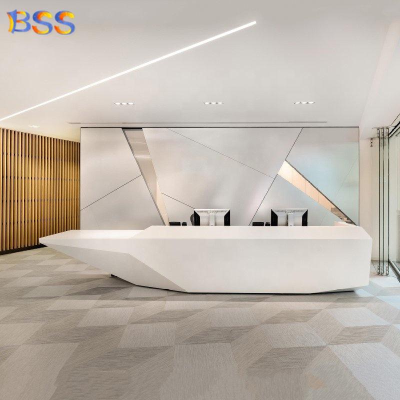 Современный крутой корианский белый современный офисный приемник