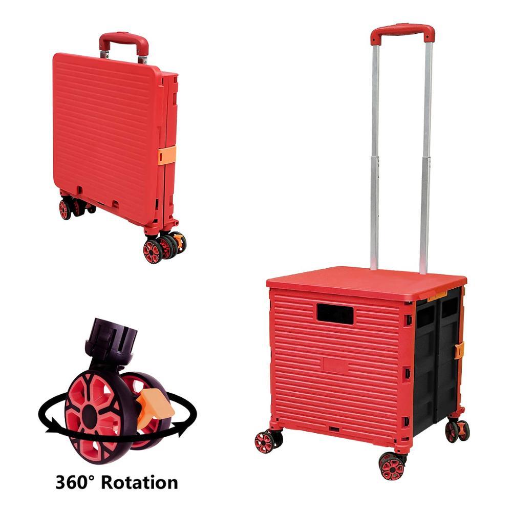 Распродажа товаров на Ebay, складные легкие складные тележки для покупок с 4 колесами