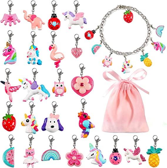 2021 Wholesale Customized DIY Poly Resin charm Handmade Girls KIds Bracelet Necklace Jewelry