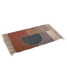 Ретро богемный ручной кисточкой тканый хлопковый льняной ковер прикроватный ковер геометрический пол коврик длинный ковер покрывало гобе...(Китай)