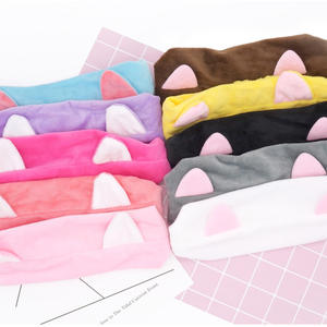Factory Sale Cute Cat Ear Hair Band Makeup Facial Cleansing Beauty Headband for Your Girls and Women
