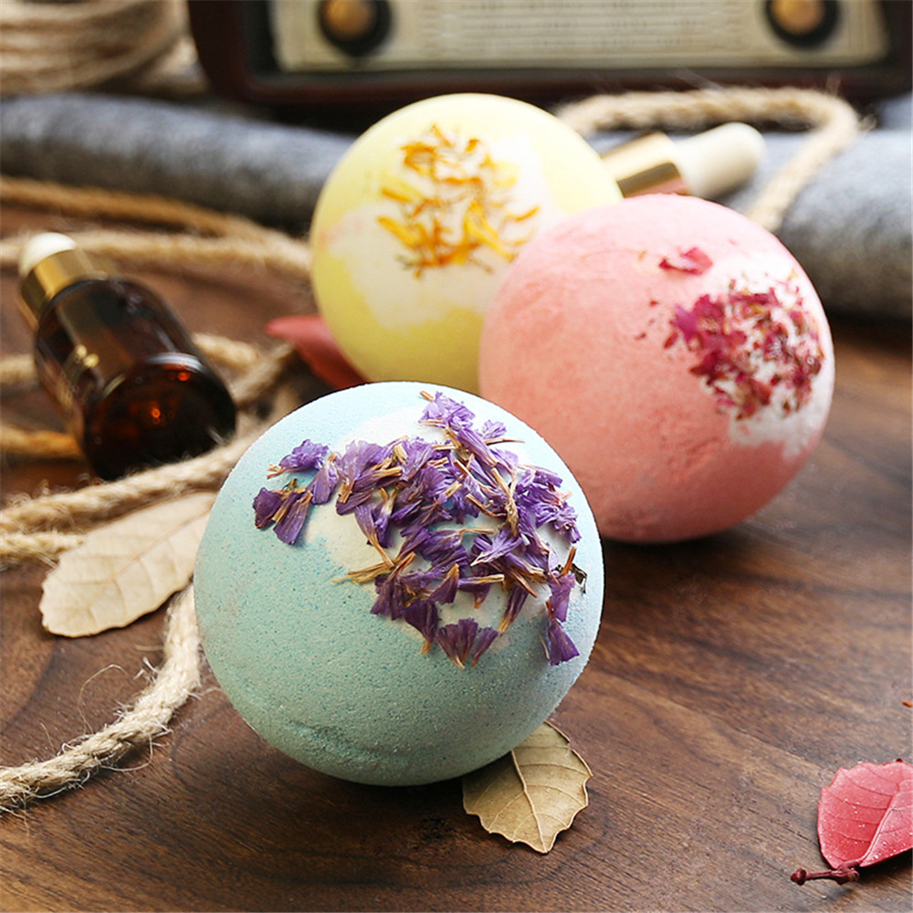 Factory Supply Customized Daily Care Floating Colorful Fizzy Bubble Bath Bombs Gift Set Bath Salt Ball