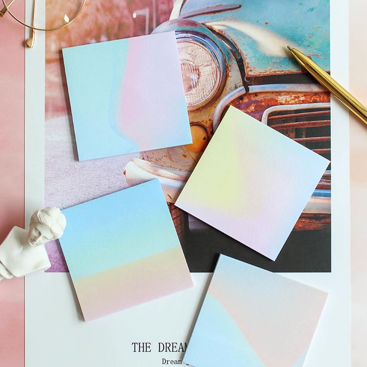 Высокое качество Дешевые Экспресс-зарядка розовый градиент пользовательские книги липкий блокнот