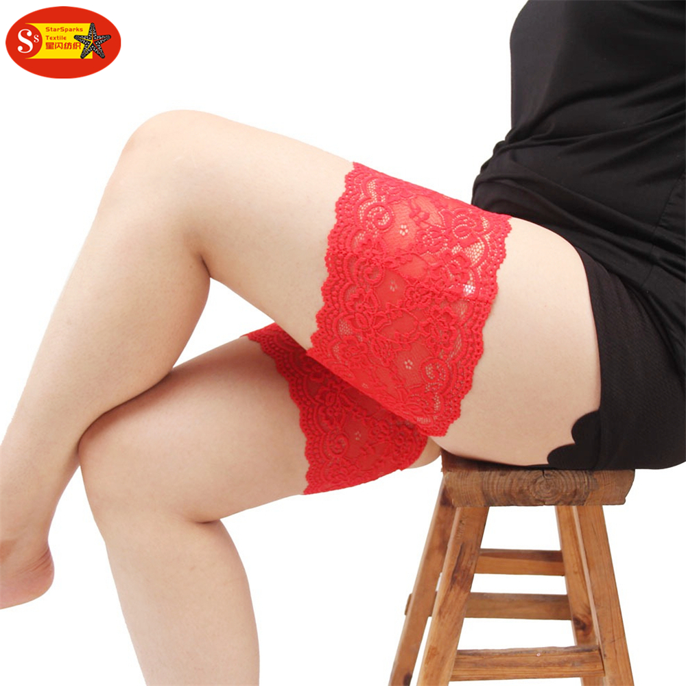 Most popular none-slip silicone design erotic thigh band leg lace