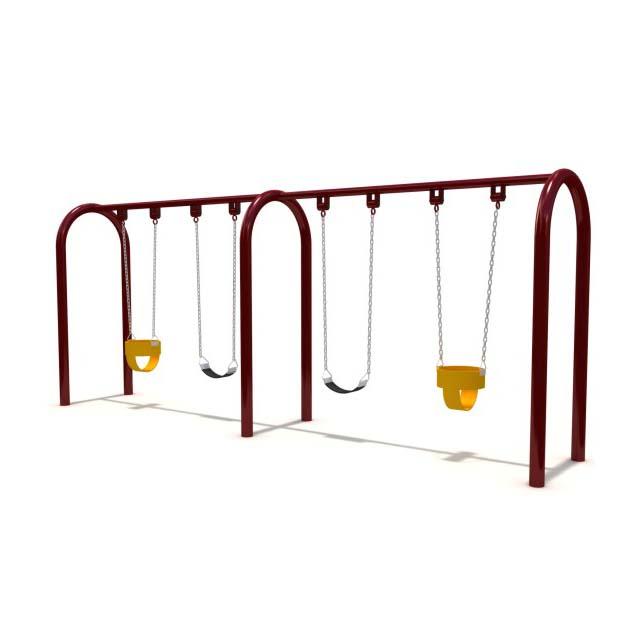 Популярная оцинкованная труба для детского сада, оборудование для уличных игровых площадок, Детские уличные качели