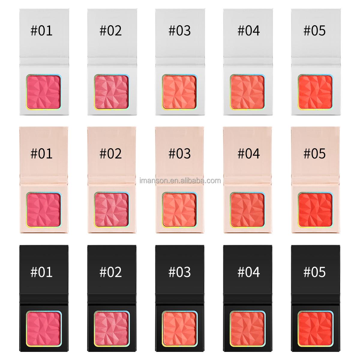 5 blushes 8 highlighters mini portable beautiful blush palette private label