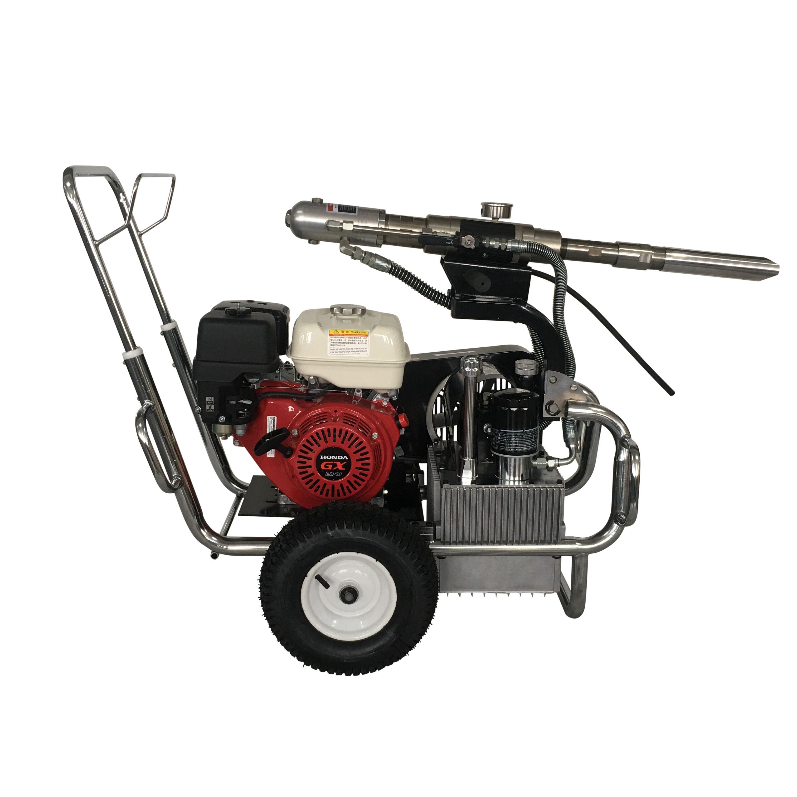 15 л/мин газовый двигатель, Гидравлический поршневой насос, безвоздушный распылитель краски, машина для покраски шпатлевки, для промышленного строительства