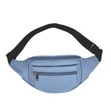 Поясная Сумка из искусственной кожи, нагрудный ремень, Женская Повседневная Элегантная двухслойная легкая сумка на молнии, сумка на плечо(Китай)