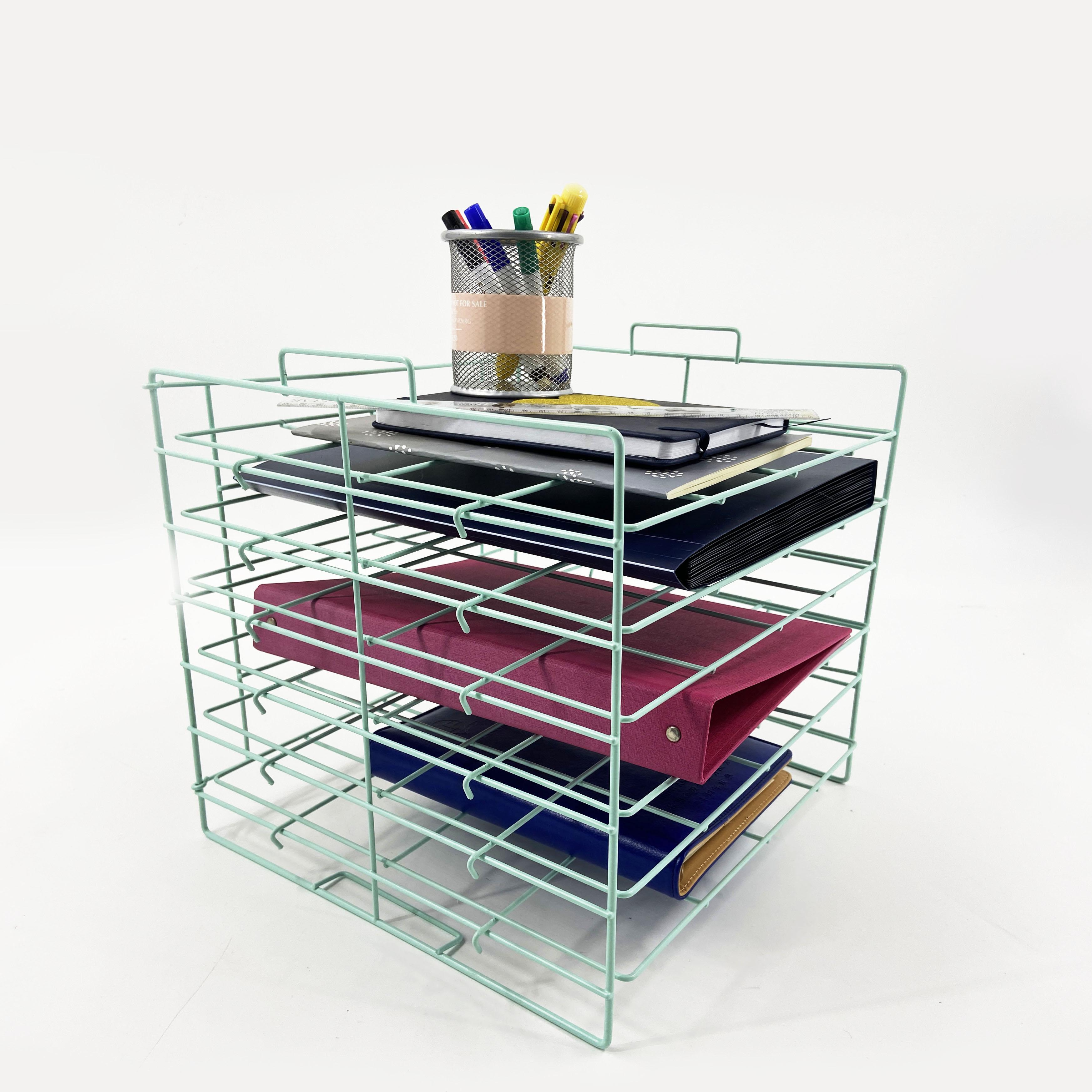 Классный провод типа «гармошка» Корзина карты вертикальный портативный стол сетчатый Файл Организатор