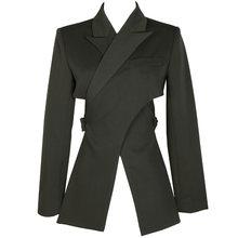 Женский блейзер с отложным воротником EAM, черный свободный пиджак с длинными рукавами, весна-осень 2020, 1T447(Китай)