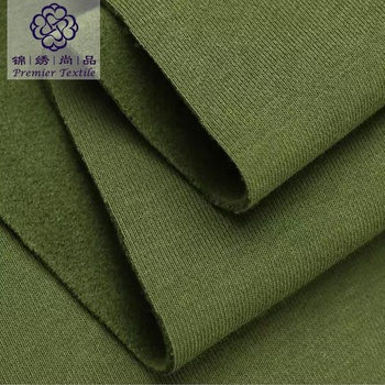Manufacturers knitted 80% cotton 20% polyester french terry fabric brushed cotton fleece fabric for sportswear fabric wholesale