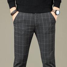 Мужские Винтажные клетчатые брюки VISADA JAUNA, Классические облегающие брюки в классическом стиле для свадебной вечеринки, 2020(China)