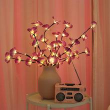 Световая гирлянда, светодиодная имитация, Бабочка, Орхидея, ветка, лампа, украшение для дома, праздничный подарок, маленькие украшения # Zer(Китай)