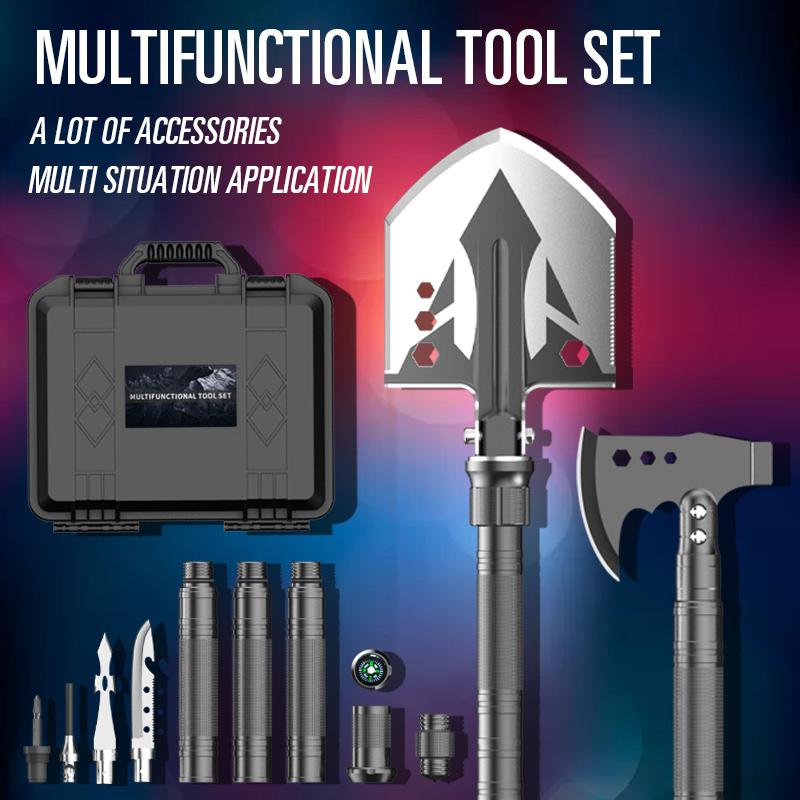New Design Multifunctional Suit Shovel Axe Toolbox Survival Shovel Multitool