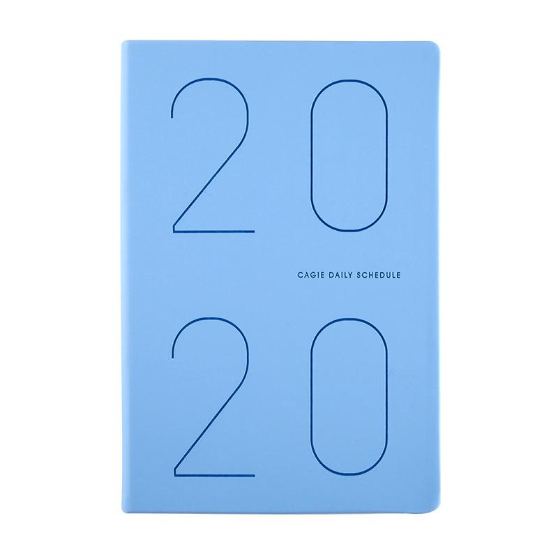 2020 ежедневник, журнал органайзера А5, записная книжка и дневник, еженедельный ежемесячный блокнот, блокнот для путешествий, простой модный б...(Китай)