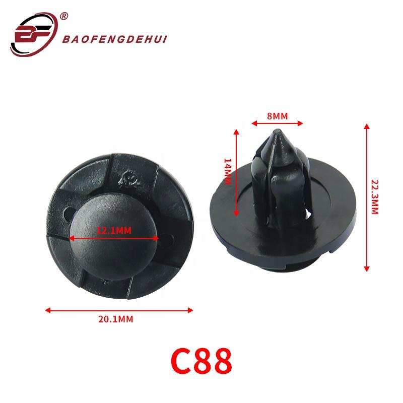 China factory automobile wholesales hybrid electric vehicle plastic clip fastener bumper clip