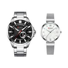 CURREN осень и зима Новые Элитные парные часы, бизнес путешествия, водонепроницаемые и прочные парные кварцевые часы(Китай)
