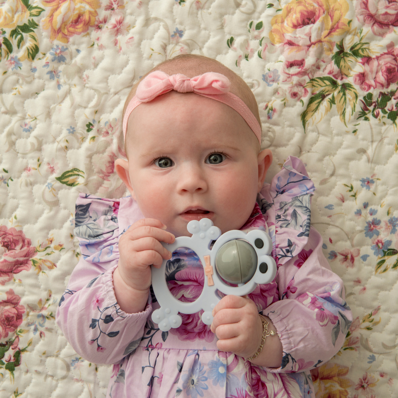 Лидер продаж, мягкий силиконовый зубной Колокольчик в форме лягушки Amazon, пластиковые погремушки для прорезывания зубов, набор игрушек для детей, погремушка, жевательные игрушки для младенцев