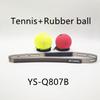 टेनिस पीले और रबर की गेंद लाल