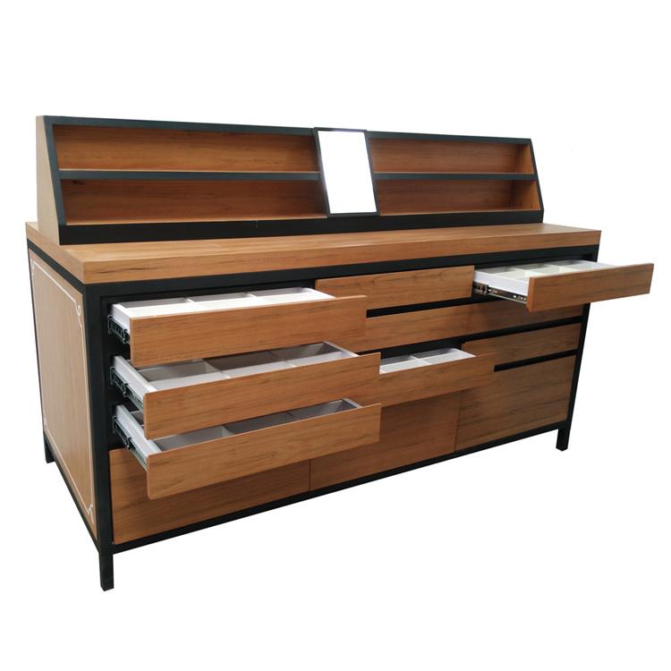 Wooden Sunglasses Shop Display Storage Cabinet